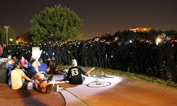 Protesters in Phoenix, AZ.