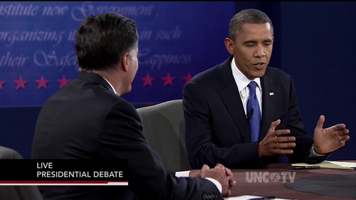 Debate screencap