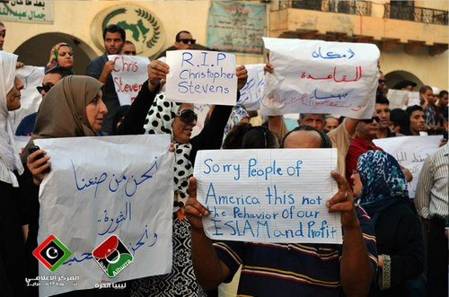 Libyans apologizing